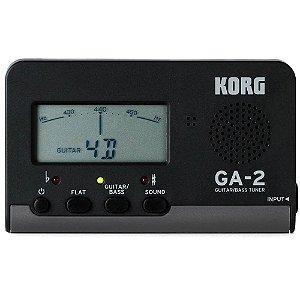 Afinador Compacto Korg GA-2 para Guitarra/Baixo