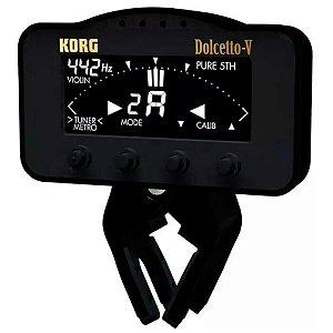 Afinador e Metrônomo Korg Dolcetto AW-3V Clipe P/ Orquestral