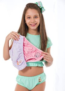 Kit Infantil Bordado Algodão (3 Peças)