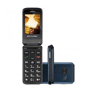 Celular Multilaser Flip Vita  Dual Chip MP3 - Azul