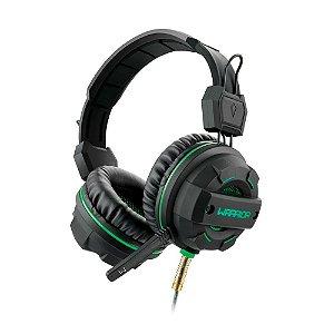 Headset Gamer , USB e P2 com LED Verde, Fone de Ouvido C/ Microfone
