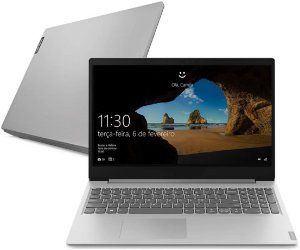 "Notebook Lenovo Ultrafino ideapad S145 Celeron - 4GB 500GB Windows 10 15.6"" Design Leve e Compacto, Prata"