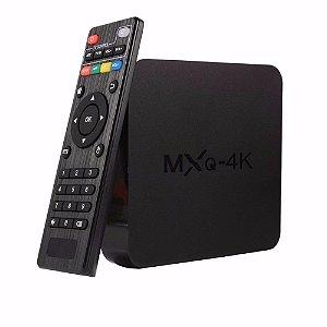 TV Box-Conversor Smart  MX - Q Pro 4Gb Ram e 32Gb Armazenamento - Hevc