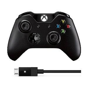 Controle Sem Fio Xbox + Cabo USB-C para PC