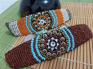 Bracelete Miçangas Mandala 203