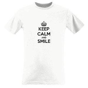 CAMISETA KEEP CALM and SMILE + pulseiras