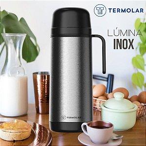 Garrafa Térmica Inox Lúmina 1L Rolha Clean Chá Café Leite