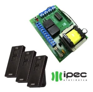 Placa Central Automatizador Portão Garen P3000 + 3 Controles