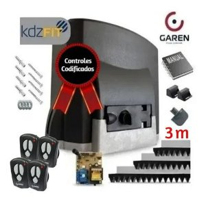 Kit Motor Para Portão Deslizante Kdz Fit 1/4 Hp Garen 500 Kg