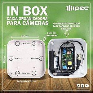 Kit 140 Unidades Caixa Plastica Organizadora Cftv Ipec