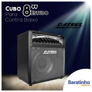 """Cubo Amplificador de Som 8"""" P/ Contra Baixo 60W Datrel"""