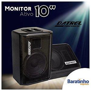 """Caixa de Som Monitor Ativo 10"""" POP 200 Watts 127/220V Datrel"""