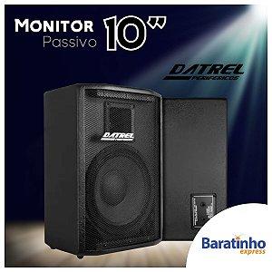 """Caixa de Som Monitor Passivo 10"""" POP 200 Watts Datrel"""