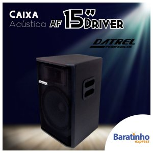 """Caixa de Som Acústica 15"""" Driver 300 Watts Datrel"""