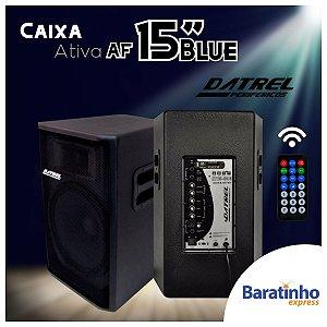 """Caixa de Som Ativo Af 15"""" Blue 300 Watts 127V/220V Datrel"""