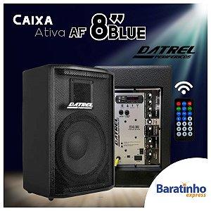 """Caixa de Som Ativo Af 8"""" Blue 150 Watts 127V/220V Datrel"""