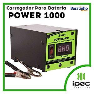 Carregador Para Bateria Bivolt De Carro Moto Power 1000 Ipec