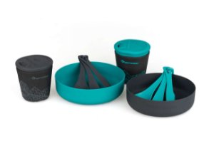 Kit de cozinha - Sea to Summit Deltalight Camp set 2.2 - Azul e cinza