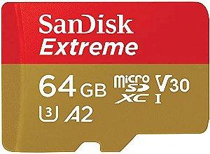 Cartão de Memória - Sandisk - Extreme 64GB - MicroSD com adaptador
