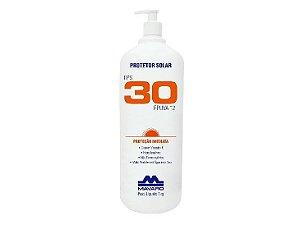 Creme Protetor Solar Fator Fps 30 Frasco 1 Litro / Kg Mavaro