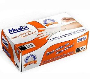 Luva Látex Medix com Pó 100un