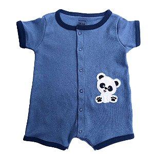 Macaquinho Jeans Panda