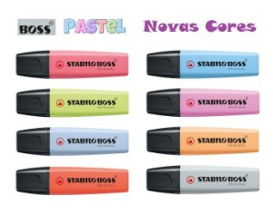 Marca Texto Original Stabilo Boss Novas Cores Pastel