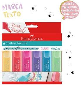 Marca Texto Textliner 46 Pastel Faber Castell estojo com 6