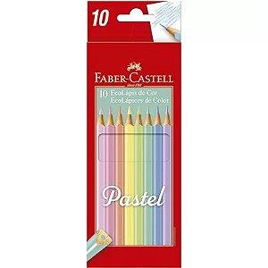Lápis De Cor Faber Castell 10 Cores Tons Pastel