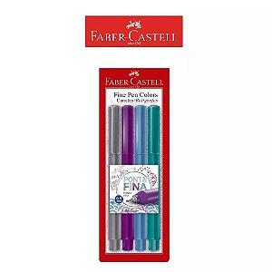 Caneta Fine Pen Colors Faber Castell ES3ZF Kit C/4 Cores