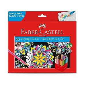 Lápis de cor Ecolápis 60 cores - 120160G - Faber-Castell