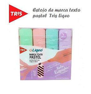 Marca Texto Pastel Tris Liqeo - Estojo C/4 Cores