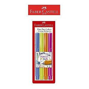 Caneta Fine Pen Colors Faber Castell C/4 Cores ES2ZF