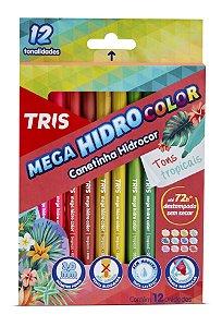Hidrocor Tris Mega Hidro Tropic 12 cores