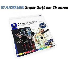 Estojo Lápis De Cor Staedtler Super Soft 24 Cores