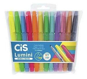 Marca Texto Cis Lumini Estojo c/12 Cores Pastel+Neon