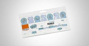 Bloco Smart Notes Marca Página Animais Azul  BRW