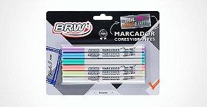 Marcador 2mm colorido C/6 cores - BRW