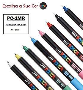 Caneta Posca PC-1MR Ponta Fina Pin Type 0,7mm a Escolha