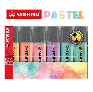 Marca Texto Stabilo Boss Pastel 70/6-2 Estojo c/6 Lançamento