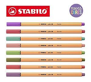 Caneta Hidrográfica Stabilo Point 88 New Colors Pastel