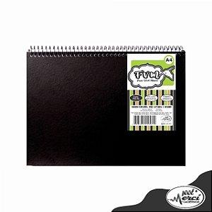 Caderno CD F.V.M Preto c/ Folhas Brancas 40Fls - Merci