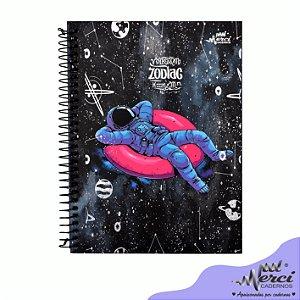 Caderno Esp. Colegial 1 matéria 80 Fls Zodiac Merci Capa 04