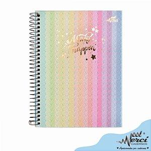 Caderno Colegial 1 matéria 80F Make it Happen Merci Capa 03
