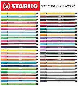 Caneta Stabilo Pen 68 C/48 Unidades - Super Kit Promoção !