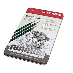 Lápis Profissional Stabilo 12 Graduações Othello 282 Estojo