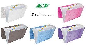 Pasta Sanfonada Plastica A4 12 Divisões Cores A Escolha ACP