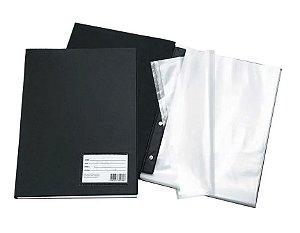 Catálogo Preta Com Visor 50 Envelopes Plásticos Sortido!