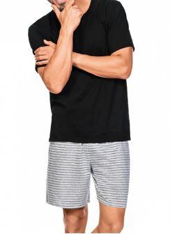 Pijama Zee Rucci Zr3300-017-1516 Black Stripes