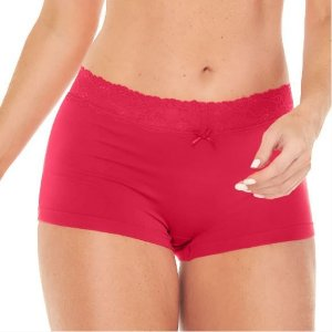 Calcinha Zee Rucci  Zr0200-018 Boxer Sweet Lace Pink
